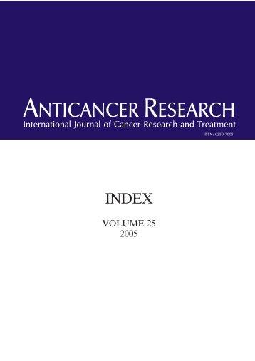 EXOF. INDEX - Anticancer Research