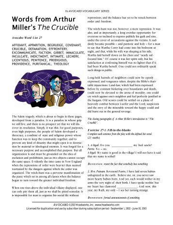 fear as a powerful motivator in the play the crucible by arthur miller