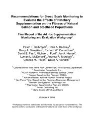 Recommendations for Broad Scale Monitoring to ... - WEST, Inc.