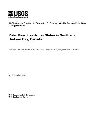 Polar Bear Population Status in Southern Hudson Bay ... - WEST, Inc.