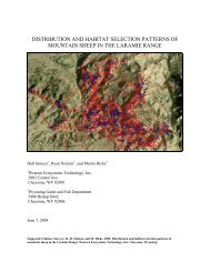 distribution and habitat selection patterns of mountain ... - WEST, Inc.