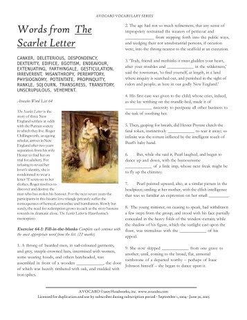 Scarlet letter essay hook