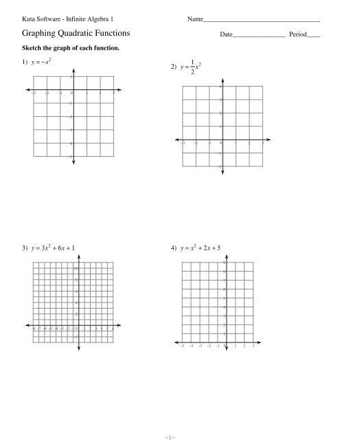 Graphing Quadratic Functions.pdf - Alg/func/dt/ana (afda)