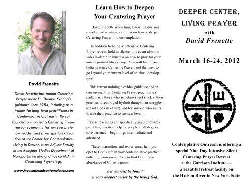 David Frenette - Contemplative Outreach