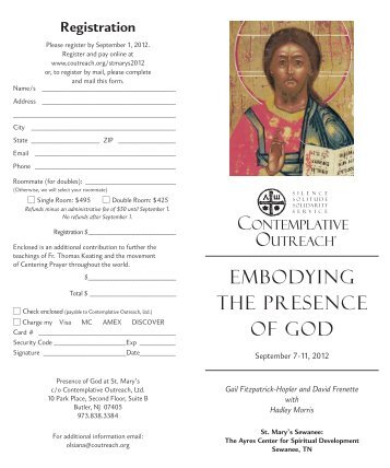Download Brochure - Contemplative Outreach