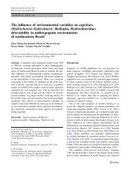The influence of environmental variables on capybara ...