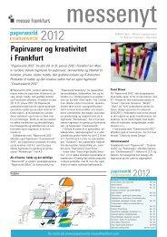 Papirvarer og kreativitet i Frankfurt -  Messe Frankfurt i Danmark ...