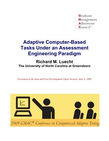 Adaptive Computer-Based Tasks Under an Assessment ...