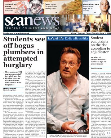 Students see off bogus plumbers in attempted burglary - Scan - Lusu
