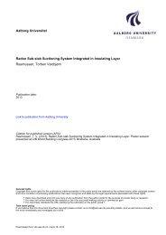 Radon Sub slab Suctioning System Integrated in Insulating ... - VBN
