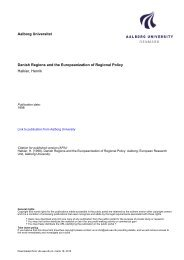 Danish Regions and the Europeanization of Regional Policy - VBN