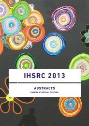 Abstracts - The 32nd International Human Science Research ...