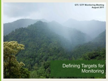Defining Targets for Monitoring - Global Tiger Initiative