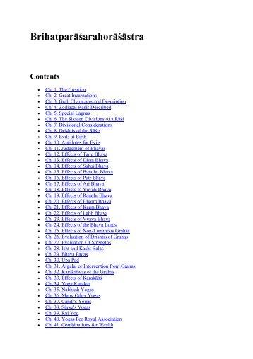 brihat parasara hora sastra pdf