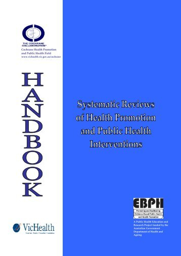 COURSE WORKBOOK - Cochrane Public Health Group - The ...