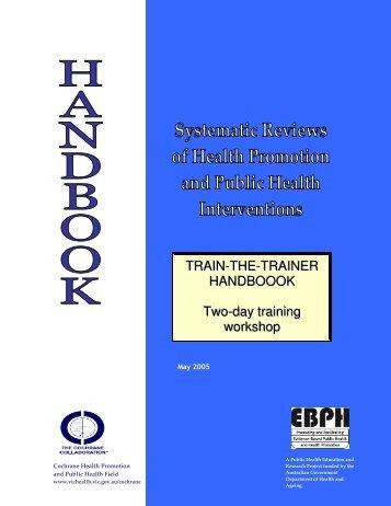 Train the Trainer Course book - Cochrane Public Health Group