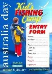 Australia Day Kids Fishing entry form - Ballina RSL Club