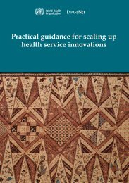 Practical guidance for scaling up health service ... - ExpandNet