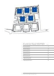 Grundrisse Häuser D/E/F/G/H - Holengass Meilen