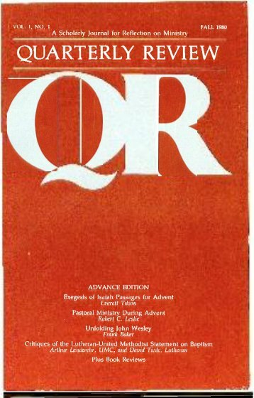 Fall 1980 - Quarterly Review