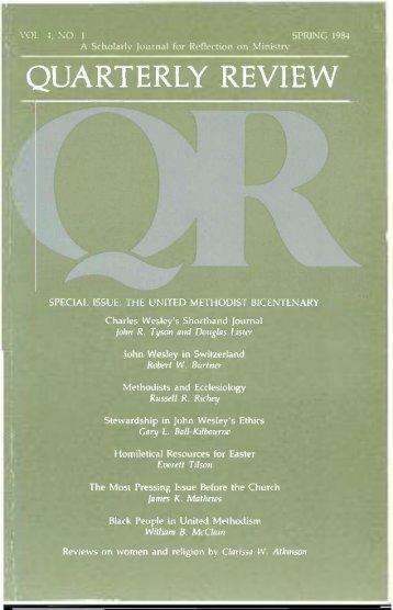 Spring 1984 - Quarterly Review