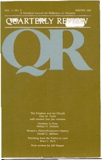 Winter 1981 - 1982 - Quarterly Review
