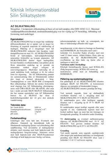 Teknisk Informationsblad Silin Silikatsystem - Silikatteknik