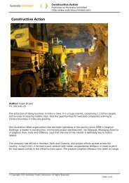 Constructive Action - Leighton Asia