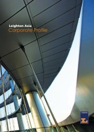 Corporate Profile - Leighton Asia