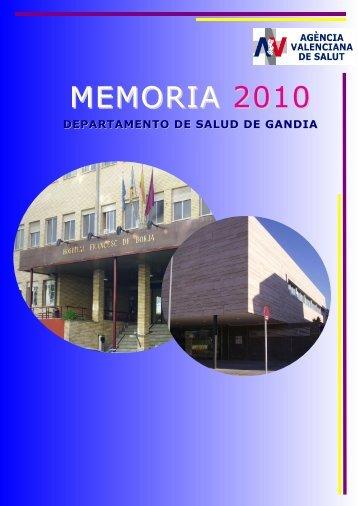 MEMORIA 2008 - Conselleria de Sanitat