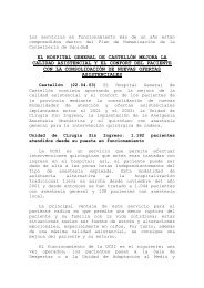 El Hospital General de Castellón mejora la calidad asistencial y el ...