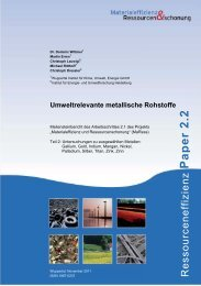 Umweltrelevante metallische Rohstoffe - Publication Server of the ...