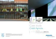 Case study Crédit Agricole - Philips Large Luminous Surfaces