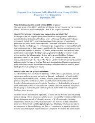 FAQs - Cochrane Public Health Group - The Cochrane Collaboration