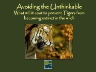 Avoiding the Unthinkable - Global Tiger Initiative