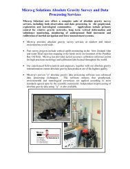 Micro-g Solutions Survey Services - Micro-g LaCoste Gravity Meters