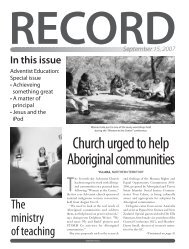 Download the Record as a PDF - Directory - adventistconnect.org