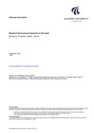 Regional Development Agencies in Denmark - VBN