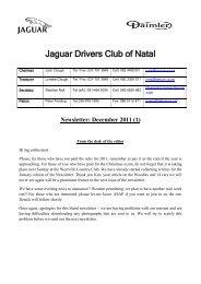 December 2011 (1) - Jaguar Drivers Club of Natal