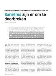 Barrières zijn er om te doorbreken