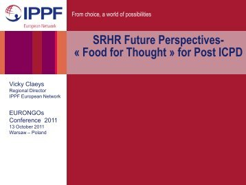 SRHR Future Perspectives- «Food for Thought» for ... - EuroNGOs