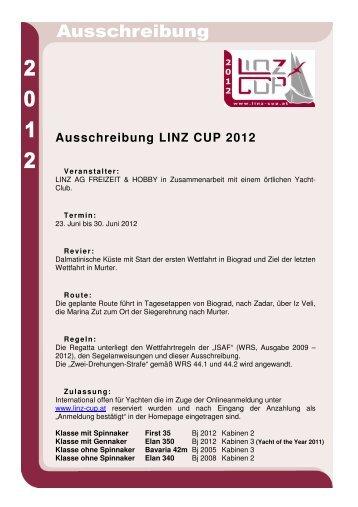 Ausschreibung LINZ CUP 2012