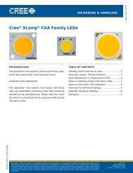 Cree® XLamp® CXA LED Soldering & Handling - Beriled