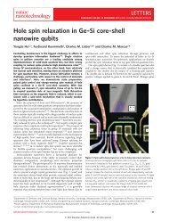 Hole spin relaxation in Ge-Si core-shell nanowire qubits - Lieber ...
