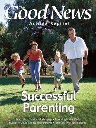 Successful Parenting Reprint - United Church of God
