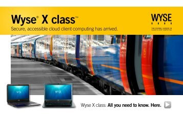 Wyse® X class™ - Thin Client LAB