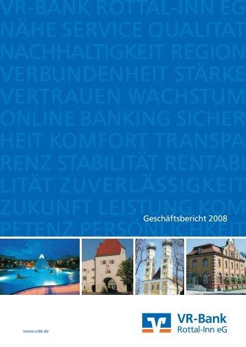 Jahresbericht 2008 - VR-Bank Rottal-Inn eG