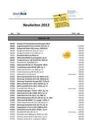 Neuheiten 2013 - zuri-Tech