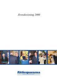 Årsredovisning 2000 - Aktiespararna