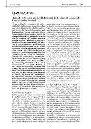 ISLAM IM ALLTAG Islamische Religiosität und ihre Bedeutung in der ...